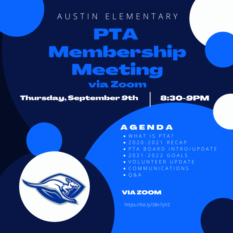 1st Austin Elementary PTA Membership Meeting for the year! Featured Photo