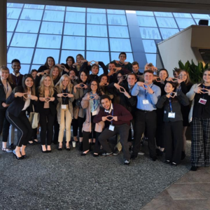 DECA students at State