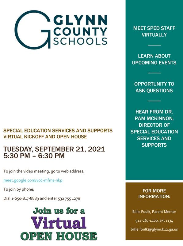 Special Education Services Kickoff Flyer
