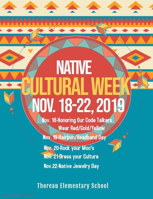 Thoreau Elem Cultural Week