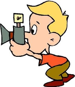 clip art of kid taking picture