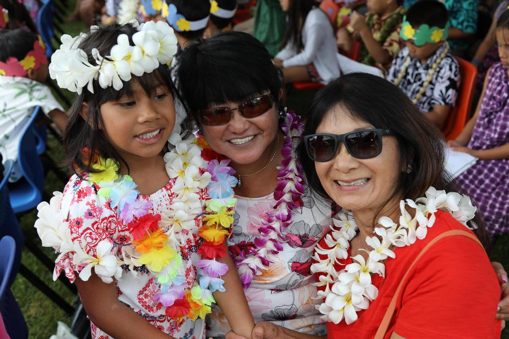 Aubrey with Ms. Cerila and Ms. Gail