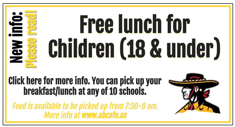 Free food for children 18 and under
