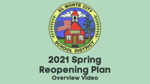 Title card that reads 2021 Spring Reopening Plan Overview Video