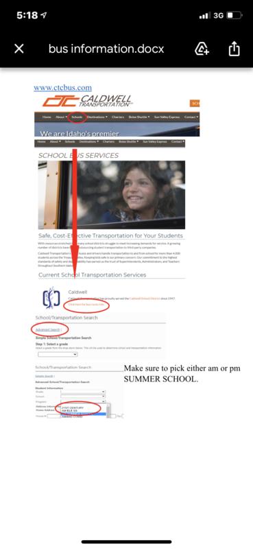 Summer School Bussing Thumbnail Image