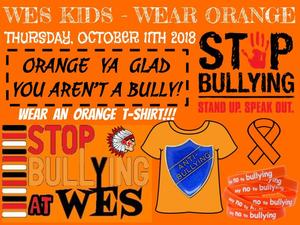 Wear Orange on Thursday, October 11th 2018