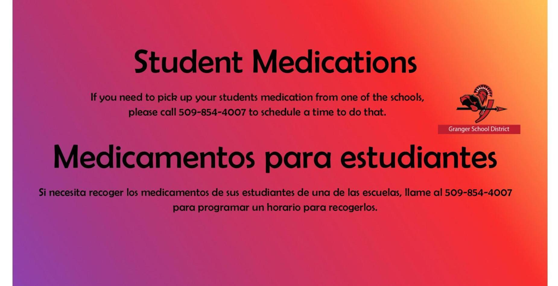 picture of student medication information