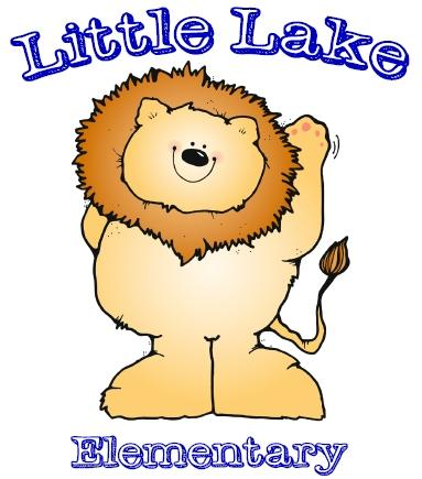 Little Lake Logo - A lion posing with the words Little Lake above an Elementary School below.