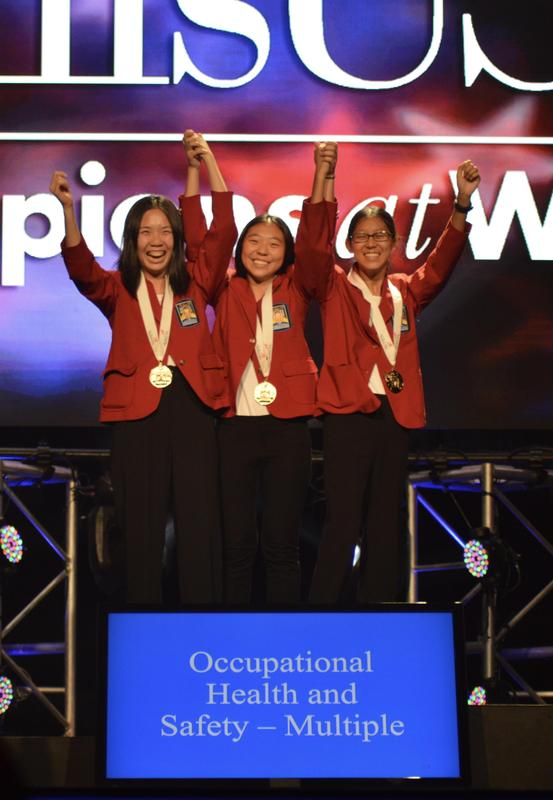 Three students win gold medal at competition