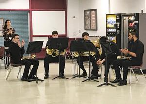 The Brass Quintet performing