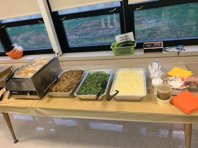 Photos of food from Peers In Transition clubs thanksgiving