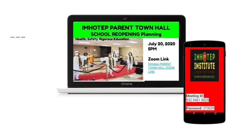 Information and Enrollment Affirmation Link Imhotep School Reopening PARENT TOWN Hall 7/20/20 Featured Photo