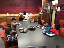 first grade storytime lunch buddies