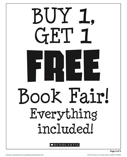 BoGo Book fair sign