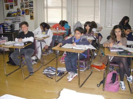 Students in class.