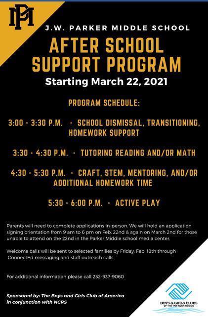 Afterschool Support Flyer