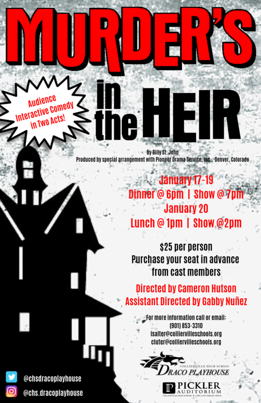 CHS Draco Playhouse Production of Murder's in the Heir Opens Thursday Featured Photo