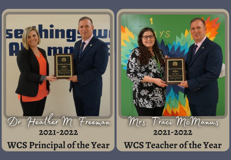 Freeman and McManus named WCS Principal and Teacher of the Year