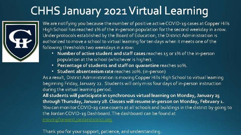 CHHS January Virtual Learning Featured Photo