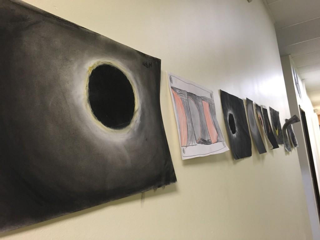 Student artwork of the Solar Eclipse