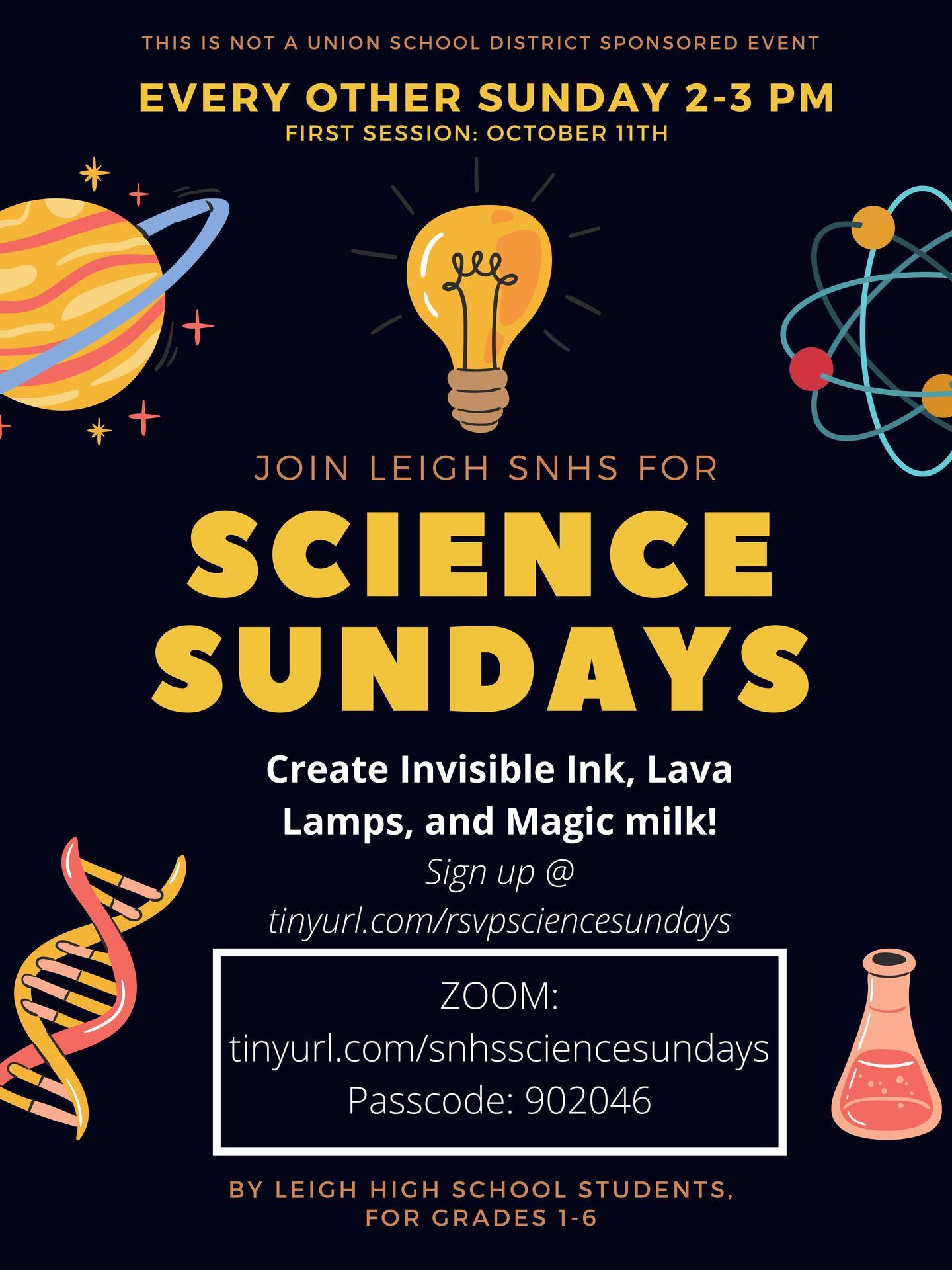 Science Sundays Leigh HS