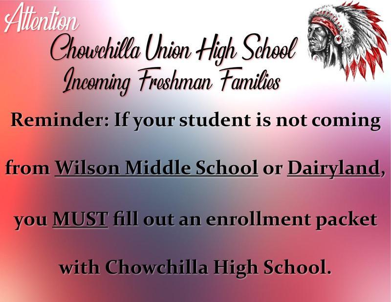 Freshman enrollment reminder
