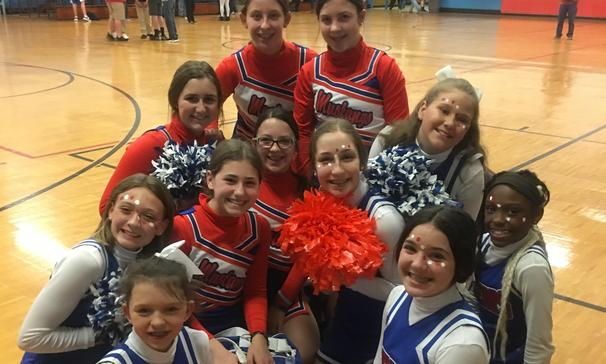 KS and AES cheerleaders
