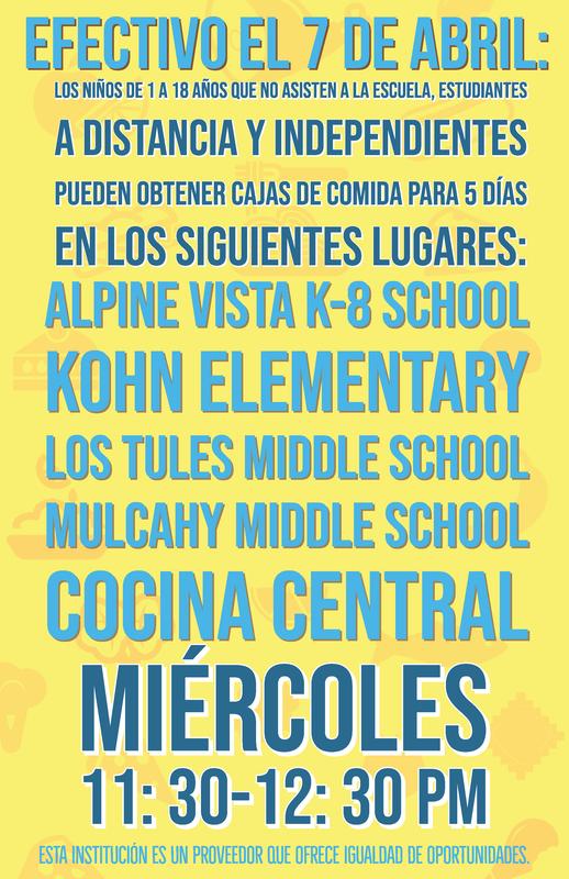 Meal Info image Spanish