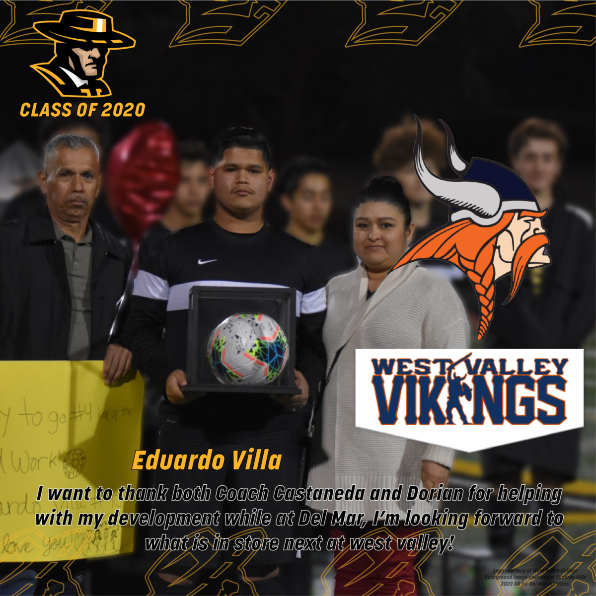 image of senior, eduardo villa, playing soccer