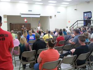 Parents attend honors assembly.