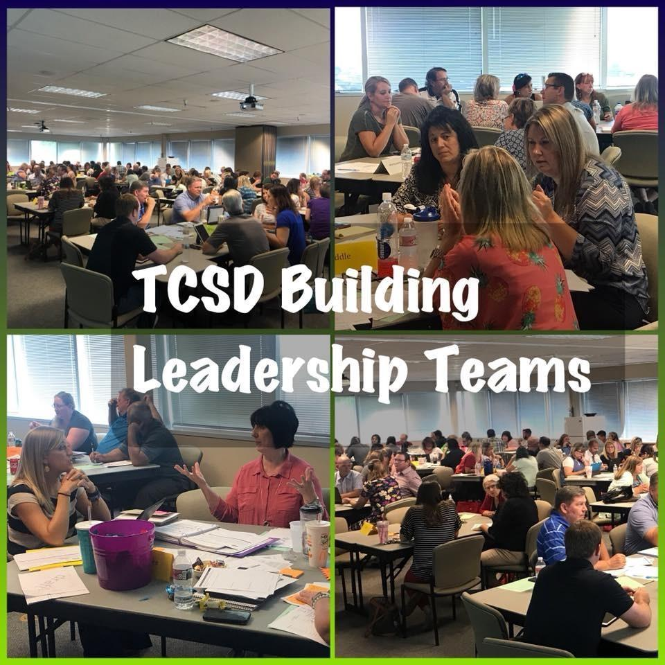 TCSD Building Leadership Teams collaborating.