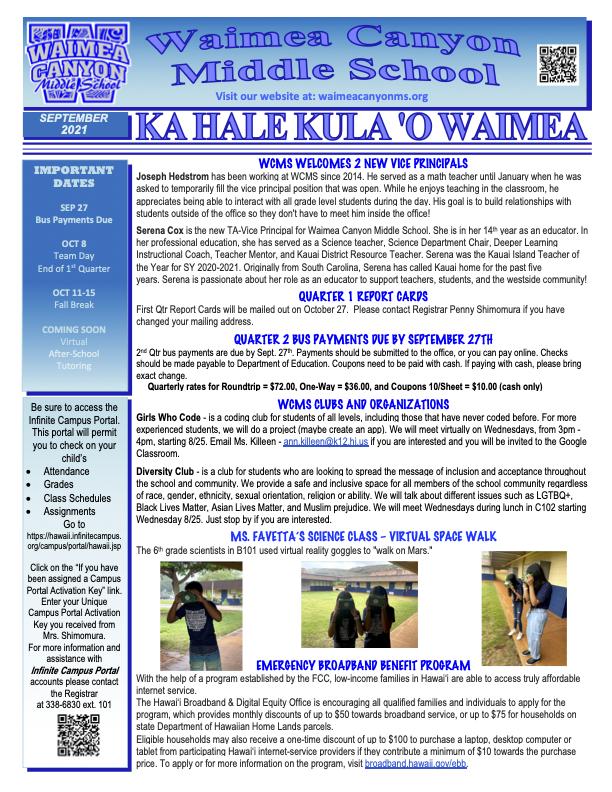 September 2021 Newsletter Thumbnail Image