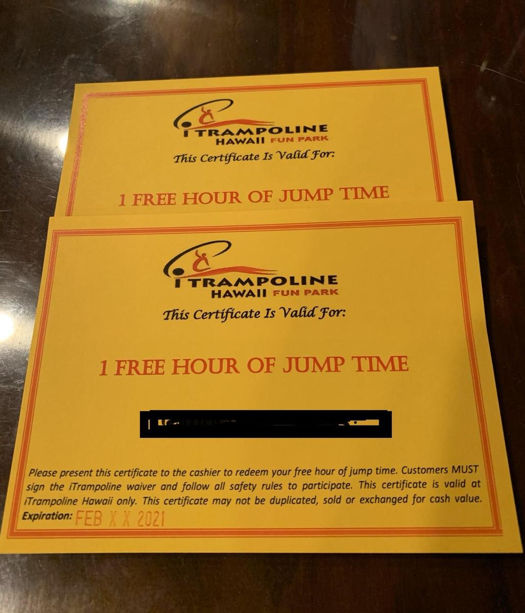 iTrampoline certificates