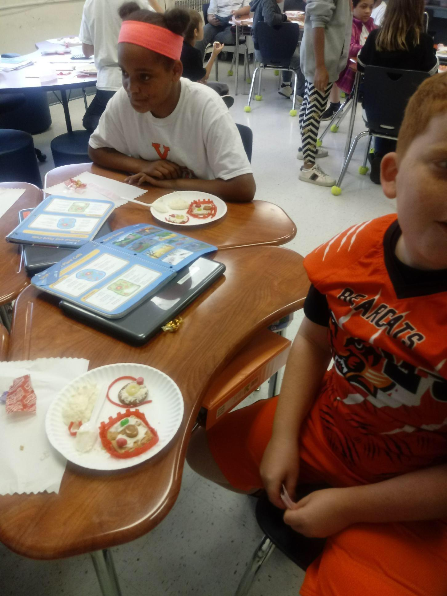 Fifth grade makes edible cells