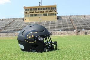 Yellow Jacket football helmet