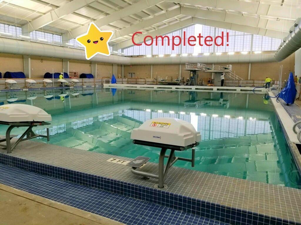 Aquatic Center is complete!