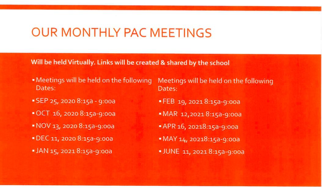 PAC Meetings