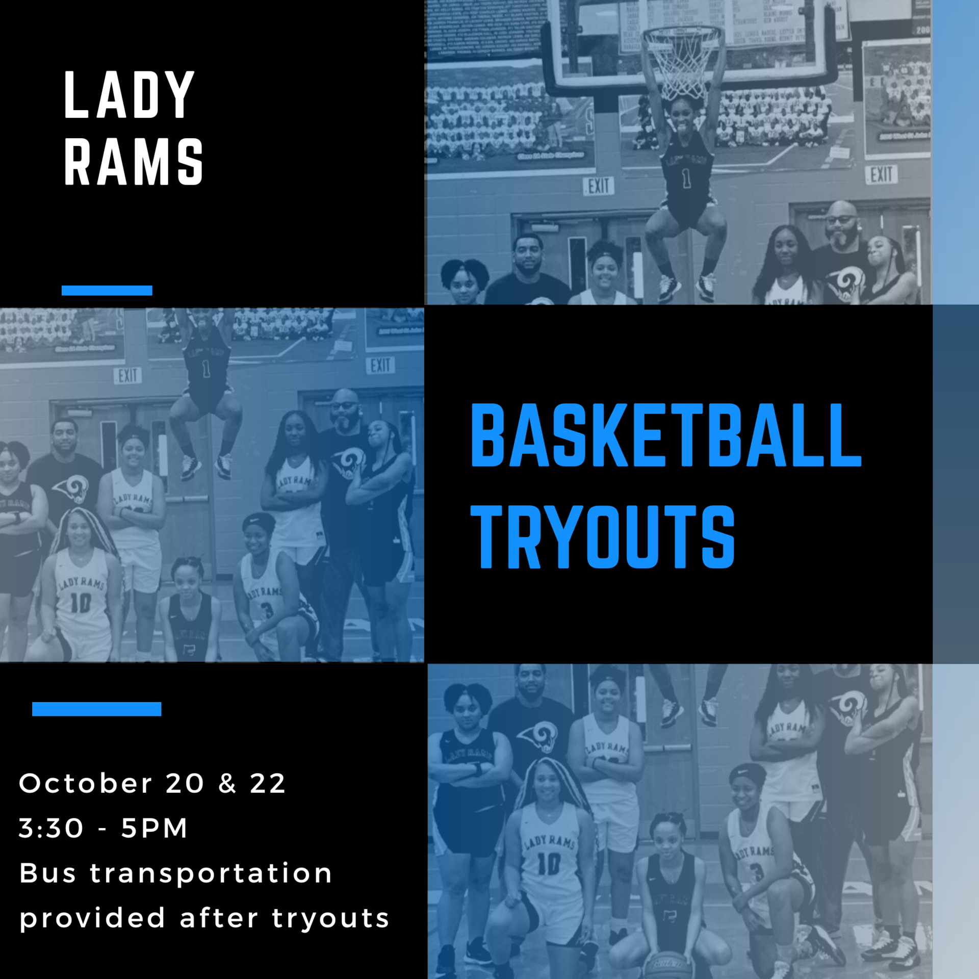 basketball tryouts flyer 2020