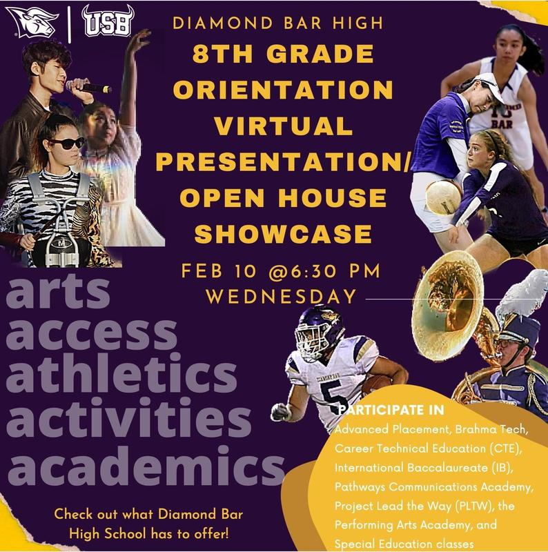 Open House Showcase and Parent Information Night for 8th graders going to DBHS Featured Photo