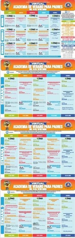 calendario de la academia de padres de verano 2021