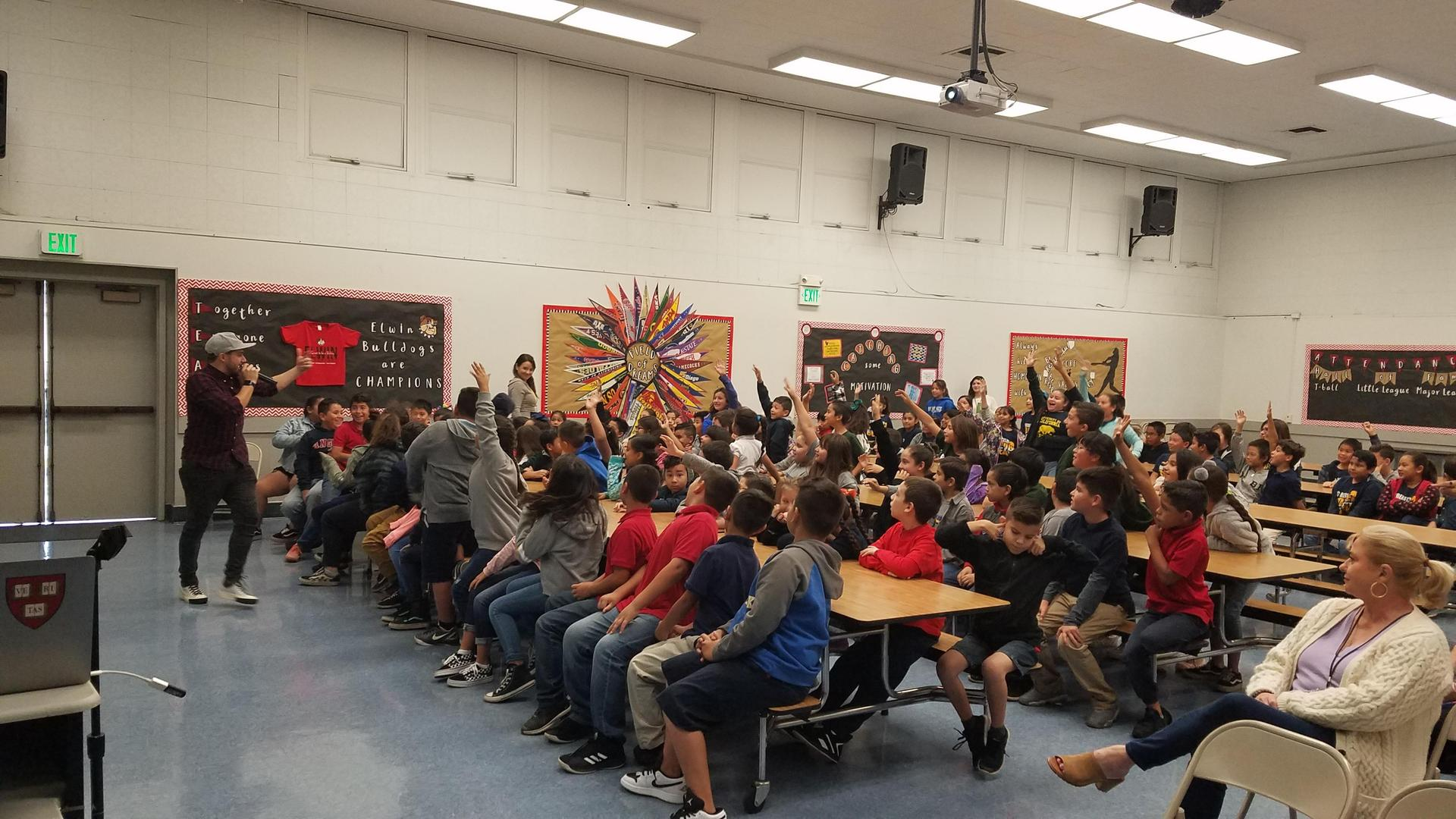 photo of Josh Drean assembly at Elwin