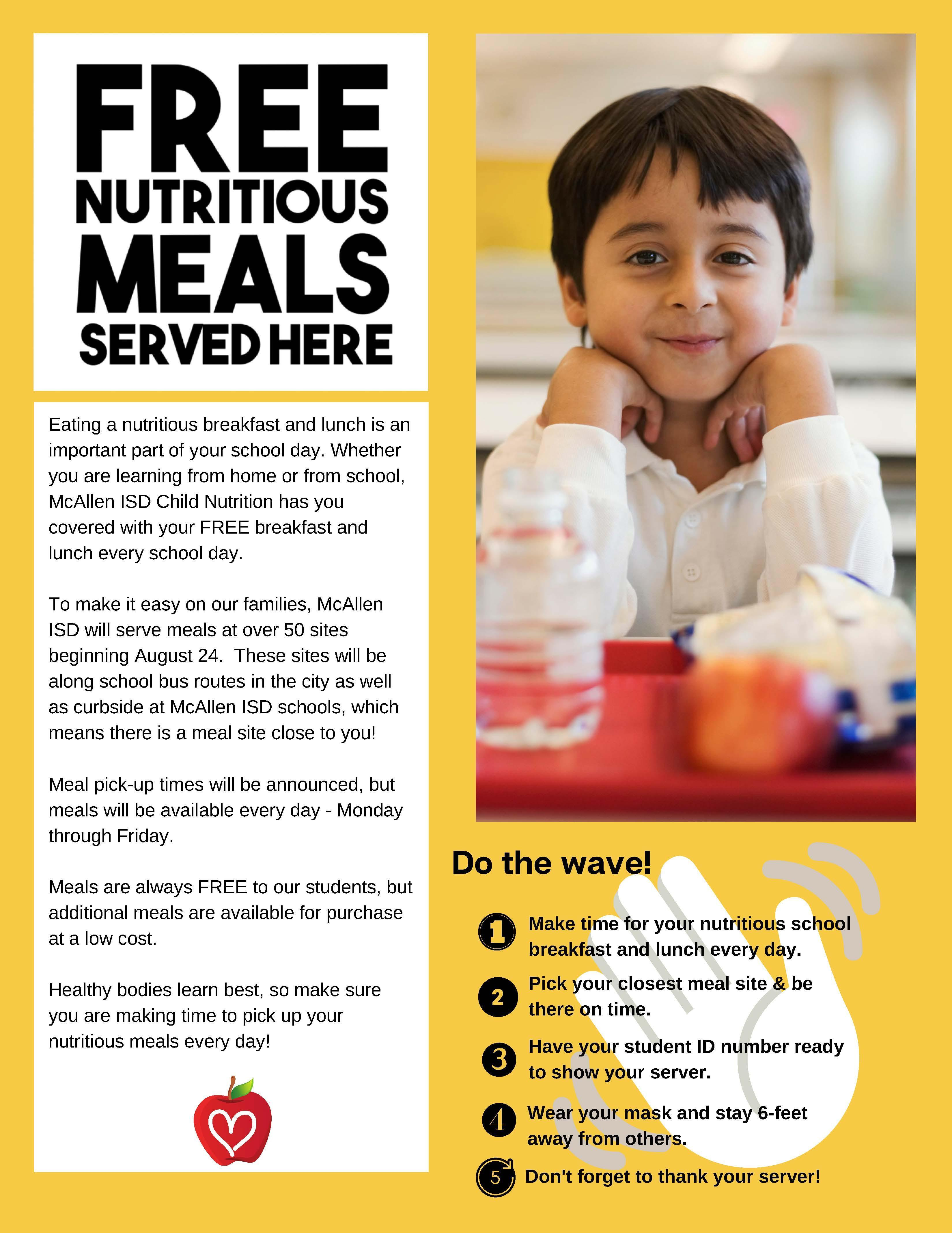 Free Meals Poster