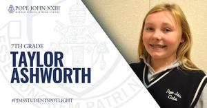 Taylor Ashworth PJMS Student Spotlight