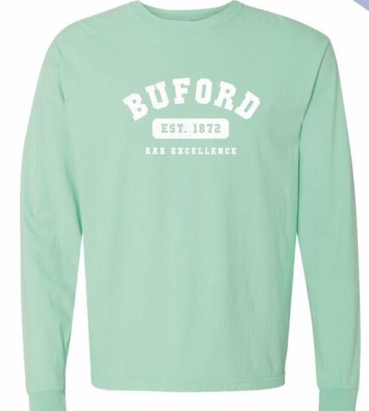 Girls Comfort Colors light green Long Sleeve T-shirt