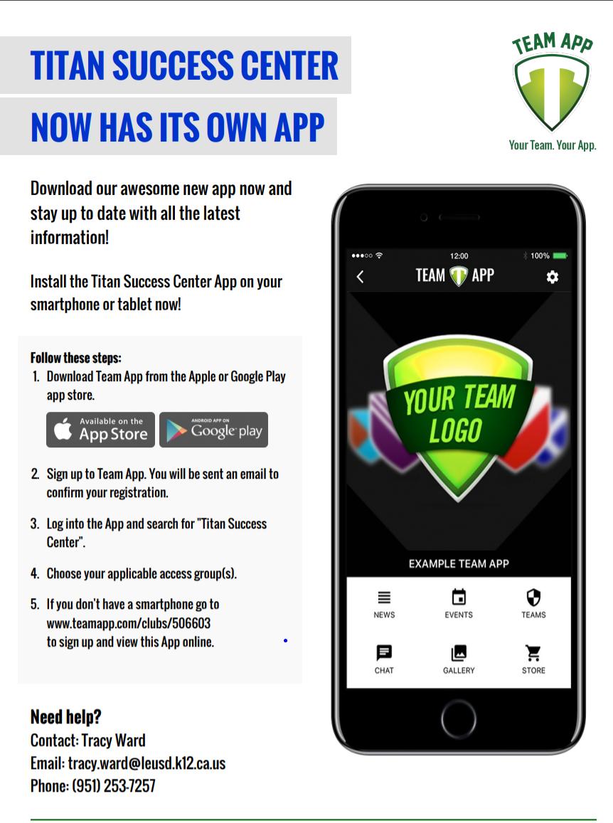 Titan Success Center App