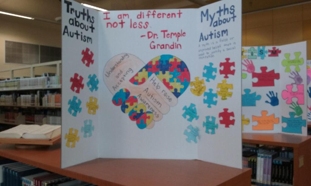 Student prepared poster-myths about Autism