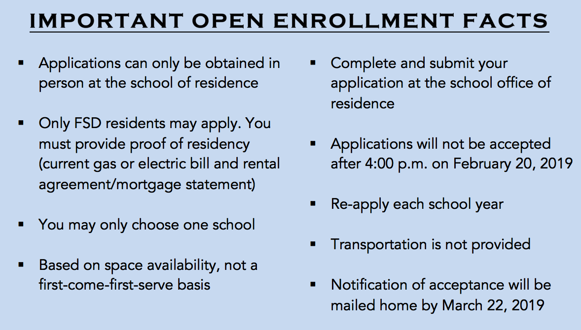 2019-20 Open Enrollment Flyer Image