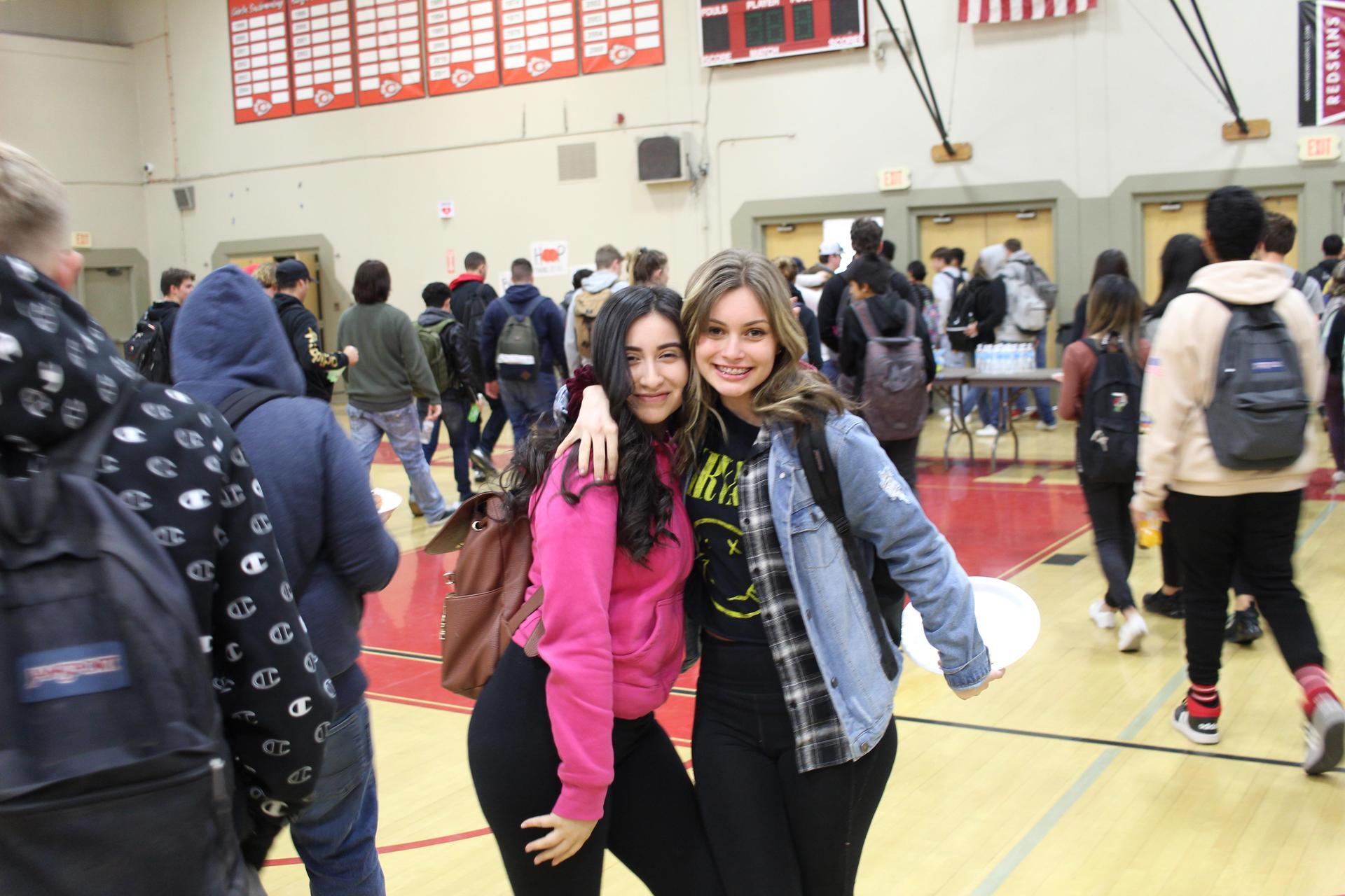 Azucena Vazquez and Kirsta Pitarre posing
