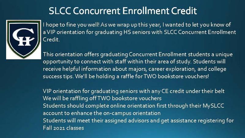 SLCC VIP CE Enrollment