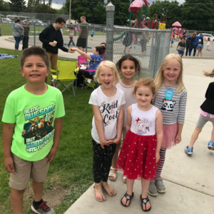 Millwood students during play day.